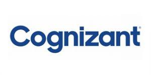 Imagem do logo escrito Cognizant na fonte azul.
