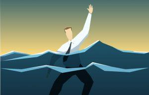 executivo-afundando-divida-perigo-mar-socorro-onda